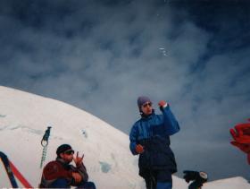 Le Massif du Mont Blanc - sjezd z vrcholu
